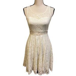 American Rag White Cream Lace Mini Dress